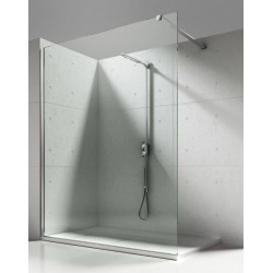 Aloni Eco Walk- In Shower Wall Clear Glass 8 mm (BXH) 1400 x 2000 mm - ECO140 - 0