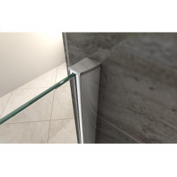 Aloni Eco Walk- In Shower Wall Clear Glass 8 mm (BXH) 1400 x 2000 mm - ECO140 - 1
