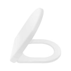 Aloni Toilet Luxury Seat Soft Close Soft Close Toilet Seat Duroplat White - AL0402 - 0
