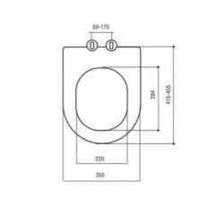 WC Design Seat SOFT-CLOSE slow close Aloni toilet seat toilet lid Duroplast - AL0402 - 3