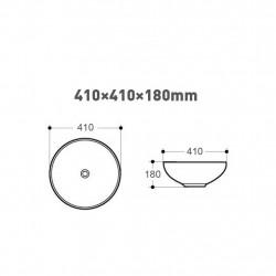 Keramik Waschtisch Waschbecken Handwaschbecken Aufsatzwaschtisch Gästebad 41x41 - 313-MB015 - 1