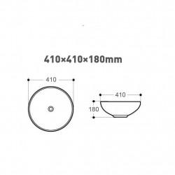 Aloni mouse attachment sink 41 x 41 x 18 cm - 313-MB016 - 1