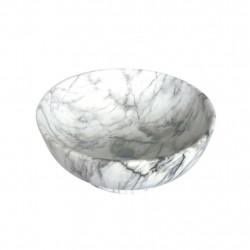 Keramik Waschtisch Hand- Waschbecken Gästebad Aufsatzwaschtisch Gästebad 41x41 - 313-MB018 - 0
