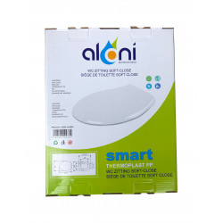 Aloni toilet seat toilet cover with softclose snapping white - AL0303 - 1