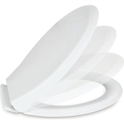 Aloni toilet seat toilet cover with softclose snapping white - AL0303 - 2