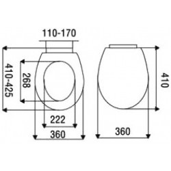 Aloni toilet seat toilet cover with softclose snapping white - AL0303 - 3