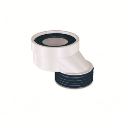 WC connecting piece eccentric 40mm connection drain pipe offset  ø90 - 1060 - 0