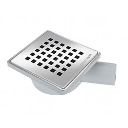 Creavit floor drain PVC with stainless steel grille finish horizontal 150 x 150 mm DN50 - FD255 - 0