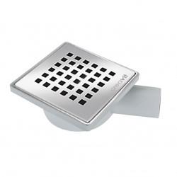 Floor drain stainless steel 150x150mm yard terrace shower bathroom drain DN 50 - FD255 - 0