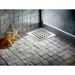 Floor drain stainless steel 150x150mm yard terrace shower bathroom drain DN 50 - FD255 - 1