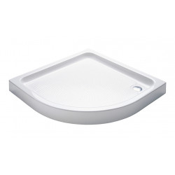 Aloni shower tray acrylic quarter circle (BXBxH) 80 x 80 x 15 cm white - TO813 - 0