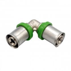 Pressfitting Winkel 90° 16x16 Aluverbundrohr Mehrschichtverbundrohr Rohr - BLR01 - 0