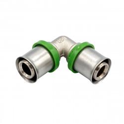 Pressfitting Winkel 90° 20x20 Aluverbundrohr Mehrschichtverbundrohr Rohr - BLR02 - 0