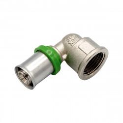 Pressfitting Winkel 90° mit IG 16x1/2F Aluverbundrohr Mehrschichtverbundrohr - BLR04 - 0