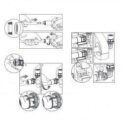 Pressfitting Winkel 90° mit IG 16x1/2F Aluverbundrohr Mehrschichtverbundrohr - BLR04 - 6