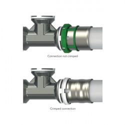 Pressfitting Winkel 90° mit IG 26x3/4F Aluverbundrohr Mehrschichtverbundrohr - BLR07 - 4