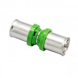 Pressfitting Kupplung 16x16 Aluverbundrohr Mehrschichtverbundrohr Rohr - BLR48 - 0