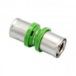 Pressfitting Kupplung 26x26 Aluverbundrohr Mehrschichtverbundrohr Rohr - BLR50 - 0