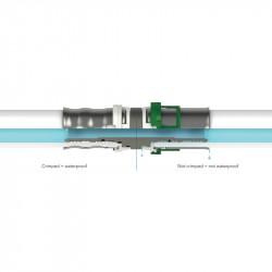 Pressfitting Kupplung 26x26 Aluverbundrohr Mehrschichtverbundrohr Rohr - BLR50 - 5