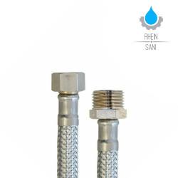 Stainless steel tank hose Flex hose 1 / 2M x 3 / 8F 100cm - 10036 - 0