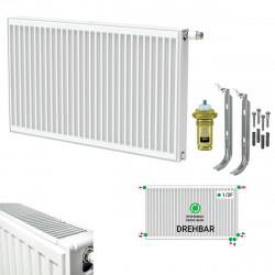 Universalheizkörper Kompakt Ventilheizkörper 300x1200 T22 & Halter & Ventil NEU - ST-E223001200 - 0