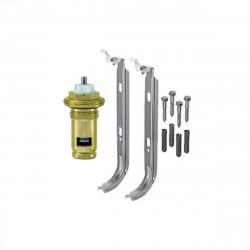 Universalheizkörper Kompakt Ventilheizkörper 300x1800 T22 & Halter & Ventil NEU - ST-E223001800 - 2