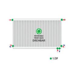 Belrad Type 22 Universal radiator valve radiator medium connection with 6 connections 500 x 700 (HXB) -1046W - ST-E22500700 - 3