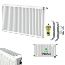 Borrrad Type 22 Universal radiator valve radiator medium connector with 6 connections 600 x 2200 (HXB) -3810W - ST-E226002200 - 0