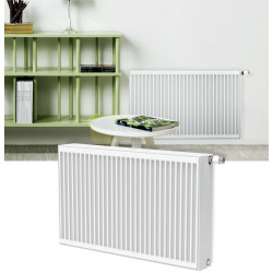 Belrad Type 33 Universal radiator valve radiators Center connection with 6 connections 300 x 1400 (HXB) -1889W - ST-E333001400 - 1