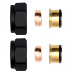 """2 x clamping ring fitting brass black 3/4 """"for copper pipes Euroconus 15mm - BLR222 - 0"""