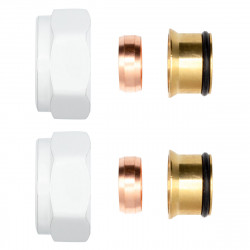 """2 x clamping screw fitting brass white 3/4 """"for copper pipes Euroconus 15mm - BLR220 - 0"""