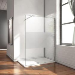 Aloni Eco Walk- In Shower Wall Half Matt 8 mm (BXH) 800 x 2000 mm - ECOF80 - 0