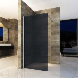 Aloni Eco Walk- In Duschwand aus Rauchglas schwarz 80x200 8mm - ECOG80 - 0