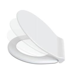 WC Design Sitz Absenkautomatik Softclose Toilettensitz Klodeckel Duroplast - D0400 - 1