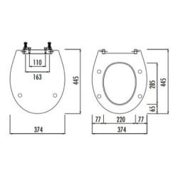 WC Design Sitz Absenkautomatik Softclose Toilettensitz Klodeckel Duroplast - D0400 - 2