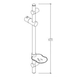 Duschstangenset Kopfbrause slim mit 3 Stufen Duschset Brausestangenset - TM51075 - 1