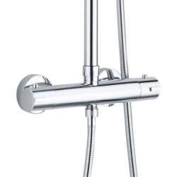 Thermostat shower set with head shower hand shower round white - OPT1 - 2