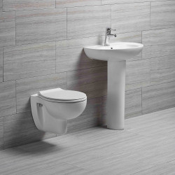 Aqua Blue Spülrandlos Wand WC Hänge WC Tiefspüler Rimless Toilette - EGWWC01 - 3