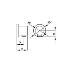 Creavit Chrom Messing Wandanschlussbogen Rund Wandbogen Außengewinde - A01 - 1