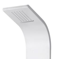 Duschpaneel Duschsäule 5 Funktionen mit Thermostatventil weiß 160x20x6,5 cm - ZLW103 - 1