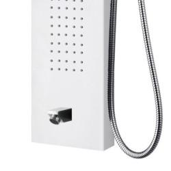 Duschpaneel Duschsäule 5 Funktionen mit Thermostatventil weiß 160x20x6,5 cm - ZLW103 - 4