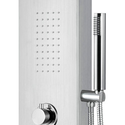 Aloni shower panel with hand shower and thermostat chrome - ZLC101 - 2
