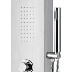 Duschpaneel Duschsäule 5 Funktionen mit Thermostatventil chrom 160x20x6,5 cm - ZLC101 - 2