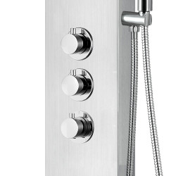 Aloni shower panel with hand shower and thermostat chrome - ZLC101 - 3