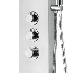 Duschpaneel Duschsäule 5 Funktionen mit Thermostatventil chrom 160x20x6,5 cm - ZLC101 - 3