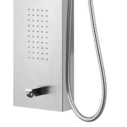 Duschpaneel Duschsäule 5 Funktionen mit Thermostatventil chrom 160x20x6,5 cm - ZLC101 - 4