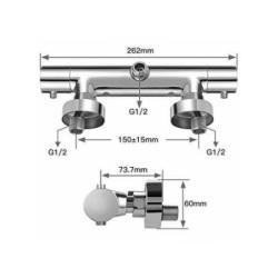 Thermostat Sink Faucet Mixer Tap Shower Bath Wasserspar-Funktion Aloni - TM22050 - 3