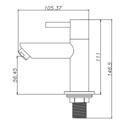 Aloni Waschtischmischer Chrom - CR6002-6 - 1