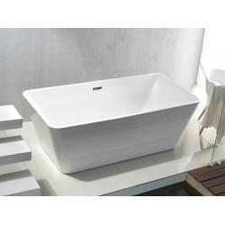 Aloni quadro freestanding bathtub acrylic white square 180 x 80 cm - FB6102 - 0
