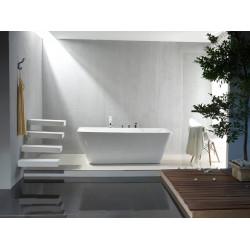 Aloni quadro freestanding bathtub acrylic white square 180 x 80 cm - FB6102 - 1